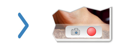 Кнопки записи видео и фото с веб-камеры.